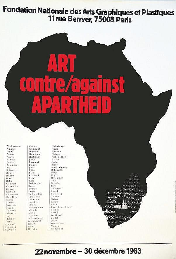 Art contre/against Apartheid 1983 1983