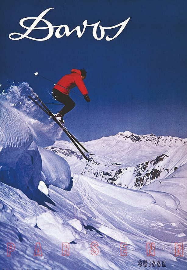 PHOTO : L.  GENSETTER  Davos     vers 1960