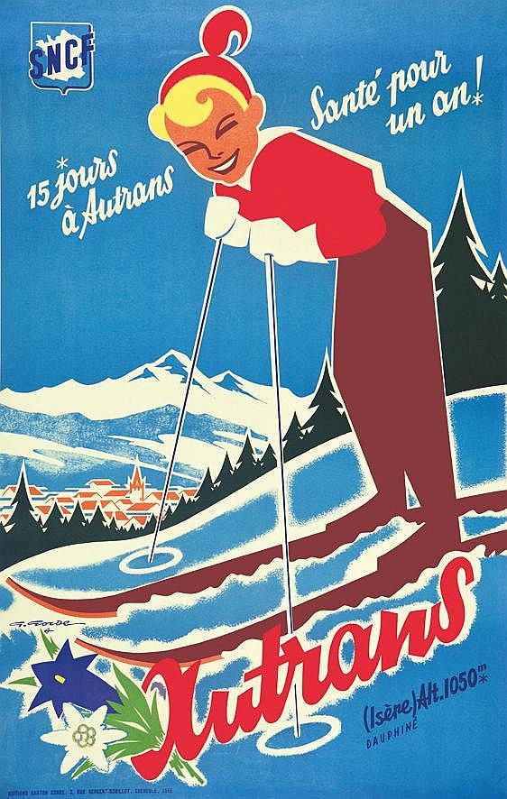 GORDE GASTON  Autrans - Isère - Dauphiné 1956     1956