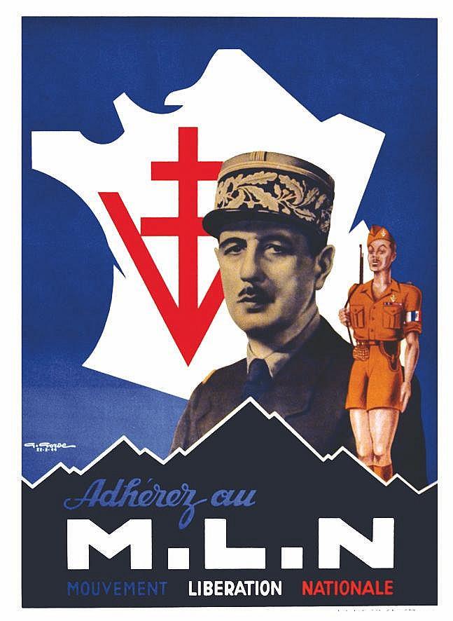 GORDE GASTON Grenoble: Le jour de la Libération de la ville le 22/08/44 - Adhérez au MLN 22 Août 1944