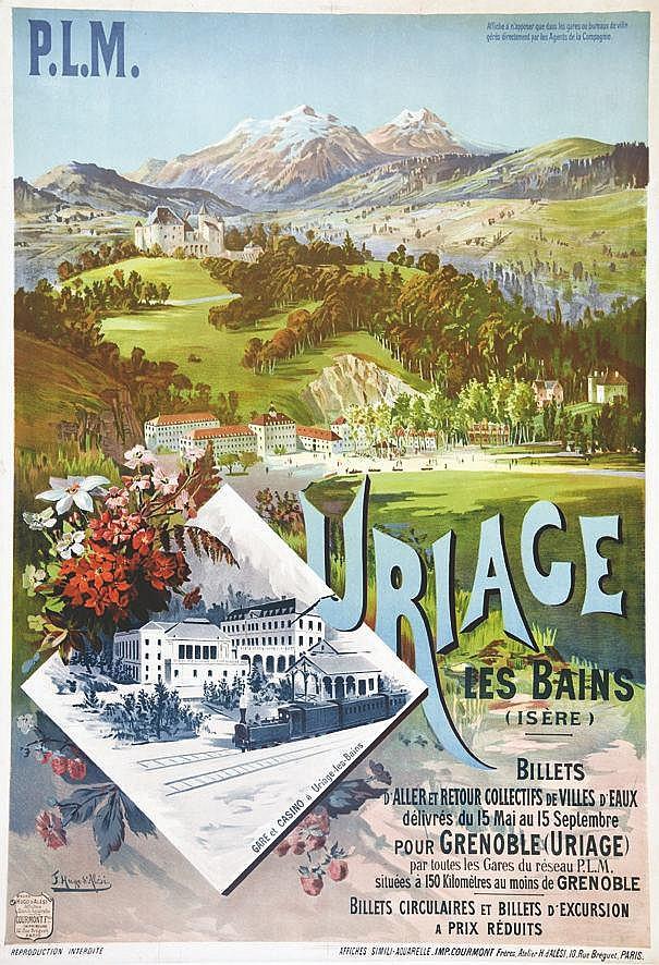 HUGO D' ALESI  F.  Uriage-les-Bains     vers 1900