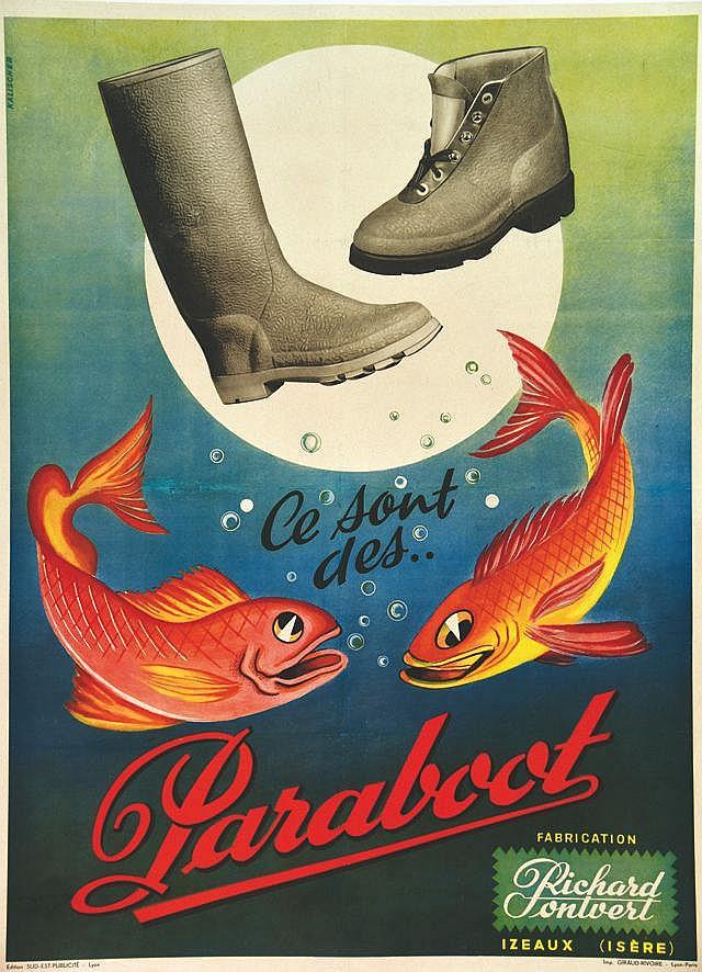 KALISCHER Paraboot - Richard Pontvert vers 1950 Izeaux (Isère)