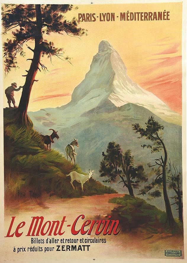 PEAN RENE  Le Mont-Cervin - Billets D'aller Et Retour Et Circulaires à Prix Réduits Pour ZERMAT     vers 1900
