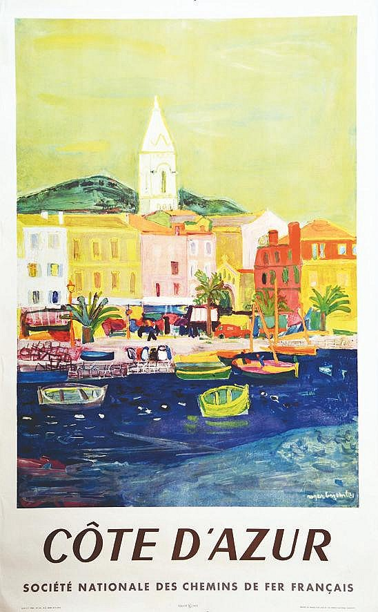 BEZOMBES ROGER Côte d'Azur 1958