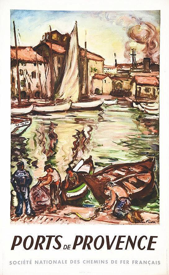 FRIESZ OTHON E. Ports de Provence 1949