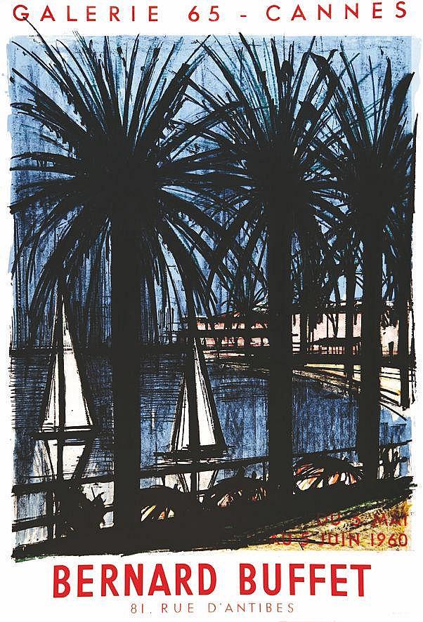 BUFFET BERNARD  Cannes Galerie 65 Bernard Buffet     1960