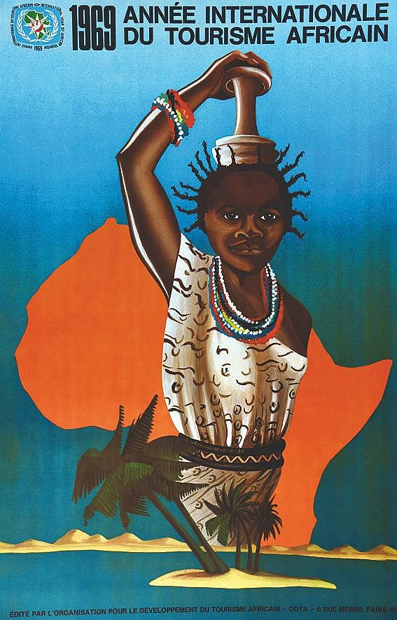 THIERCELIN EDITH 1969 Année Internationale du Tourisme Africain 1969