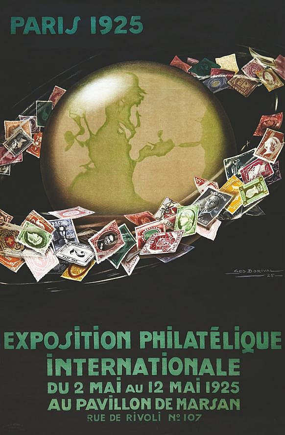 DORIVAL GEO Exposition Philatélique Internationale Paris 1925