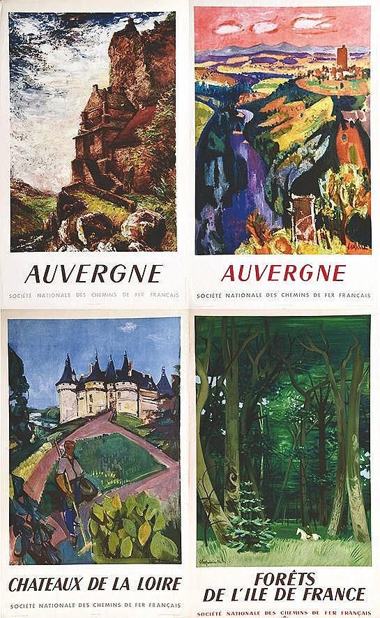 Lot de 21 Affiches sur Diverses Régions dont Pays Basque - intéressant lot / Nice Lot vers 1950