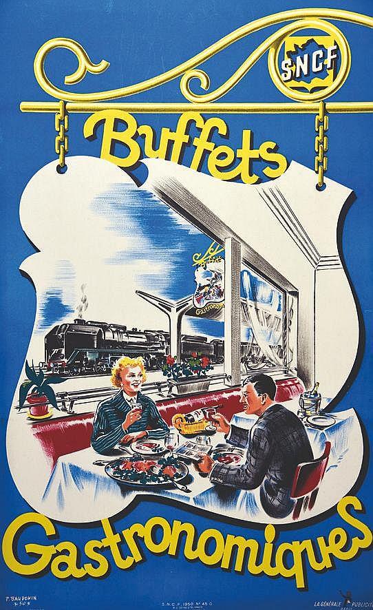BAUDONIN P. Buffets Gastronomiques 1950