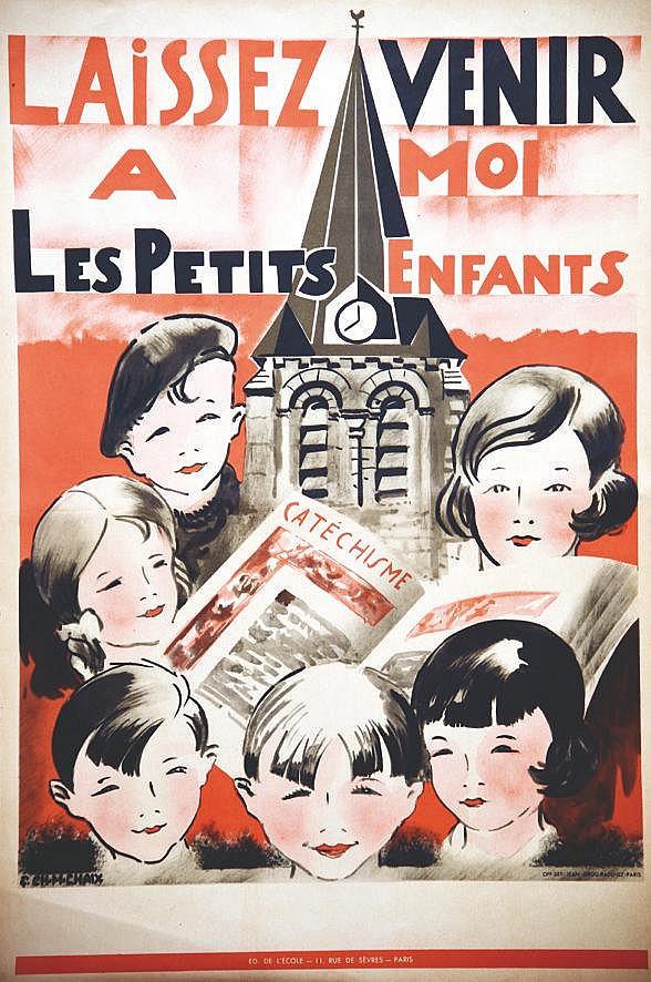 CHAIX F CH M Laissez venir à moi les Petits enfants ..Catéchisme vers 1950