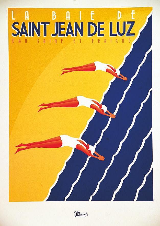 MARCEL  La Baie de Saint Jean De Luz     vers 2010