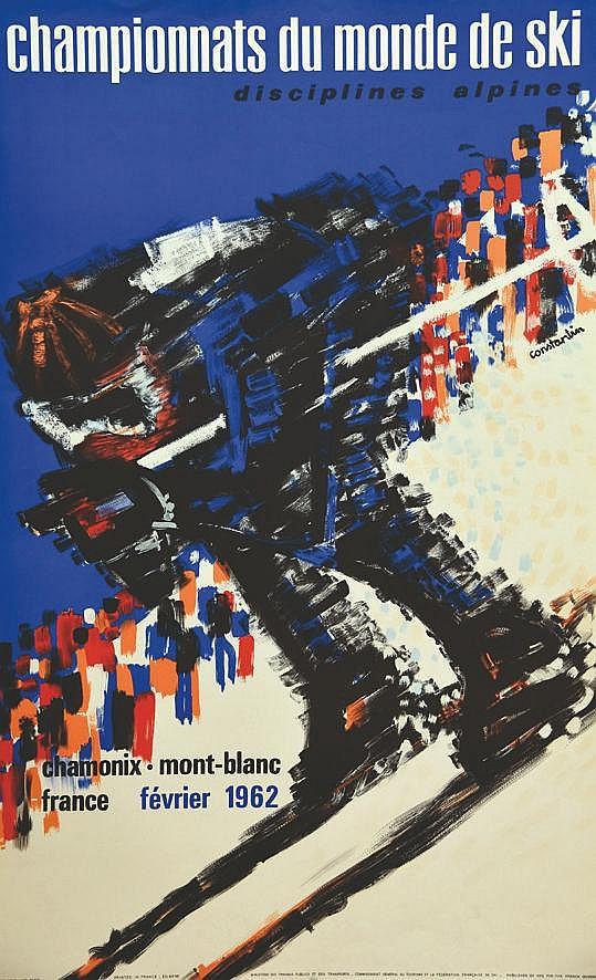 CONSTANTIN  Chamoniw - Montblanc - Championnats du Monde de Ski     1962