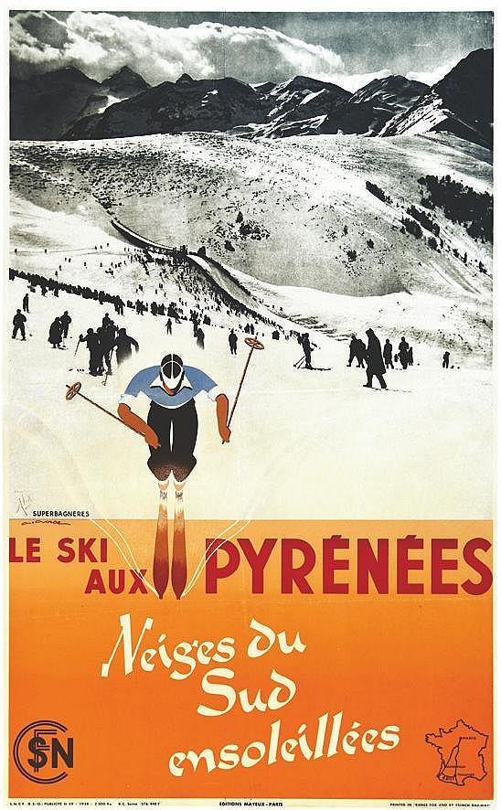 GORDE GASTON  Ski aux Pyrénées     1937