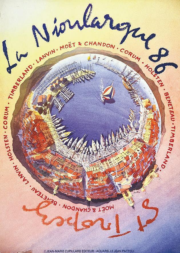 PATTOU JEAN  La Nioulargue 86 Saint Tropez     1986