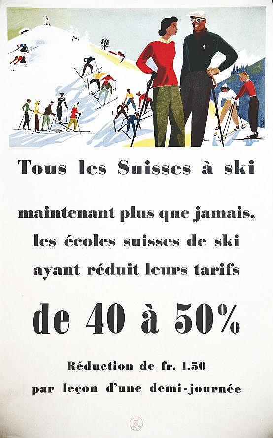 THÖNI HANS Tous les Suisses à ski 1948