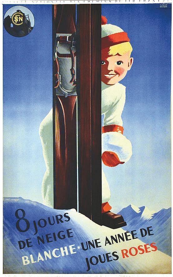 HUGON ROLAND 8 Jours de Neige blanche - Une année de joues roses 1938