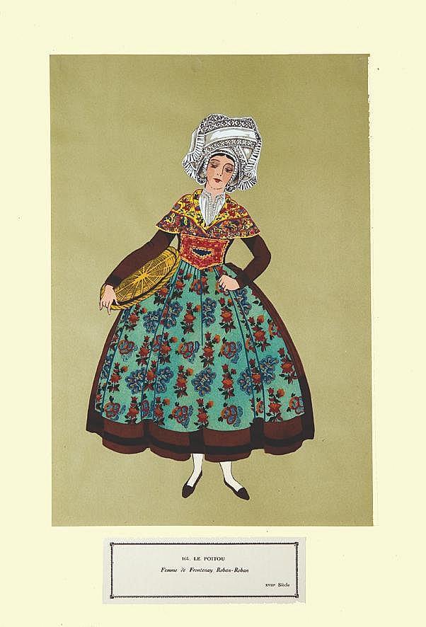 Femme de Frontenay Roban- Roban- Le Poitou     vers 1900