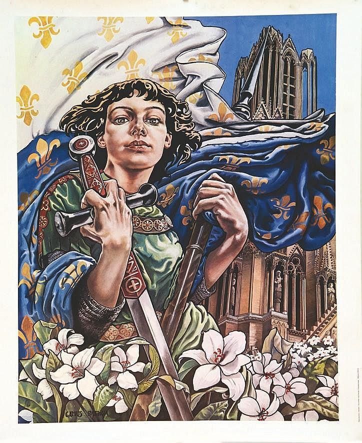 CAMUS PATRICIA Jeanne d'Arc & La Cathédrale de Reims vers 1980 Reims (Marne)