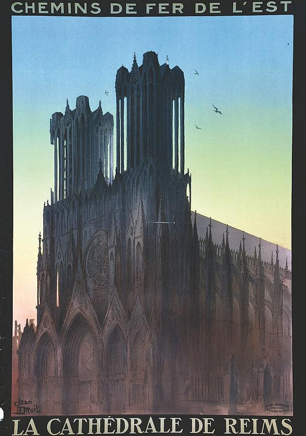 DROIT JEAN Reims - La Cathédrale vers 1920