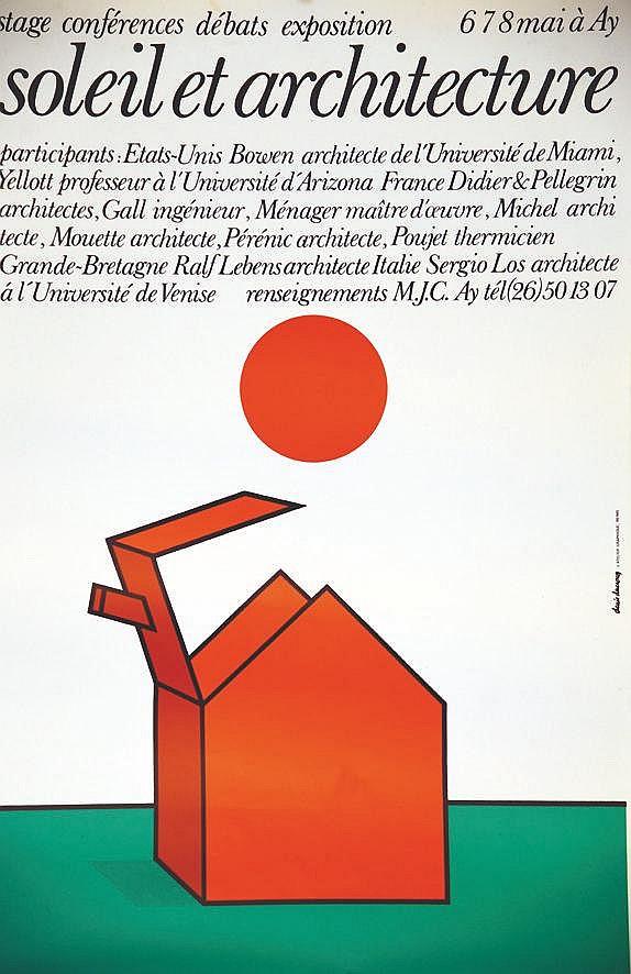 DUCROCQ DENIS  Ay Soleil et Architecture     vers 1980