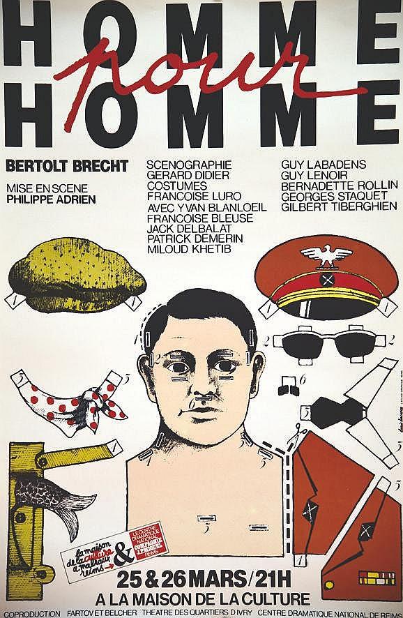 DUCROCQ DENIS Maison de la Culture de Reims Homme pour Homme de Berthold Brecht 1984