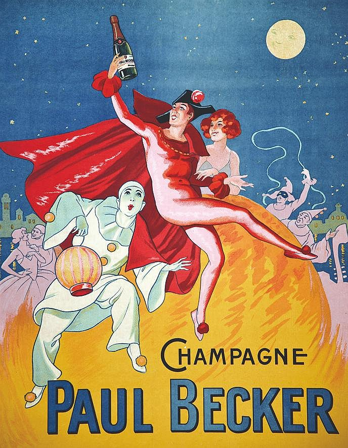 Champagne Paul Becker     vers 1920