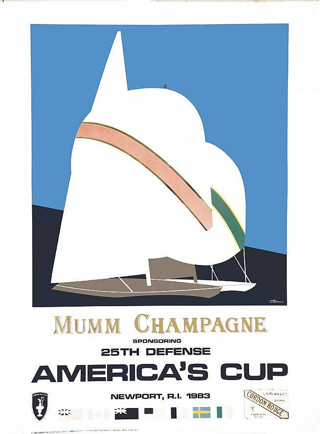 BAMS S.  America Cup Mumm Champagne     1990