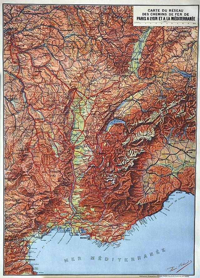 ERHARDS HENRI  Paris aux  Alpes à la Méditerranée     vers 1900