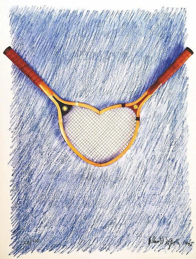 LIPSKI DONALD Roland Garros 1995 signée par Lipski et N° 28/50 1995