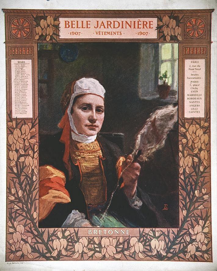 Bretonne -  La Belle Jardinière     1907