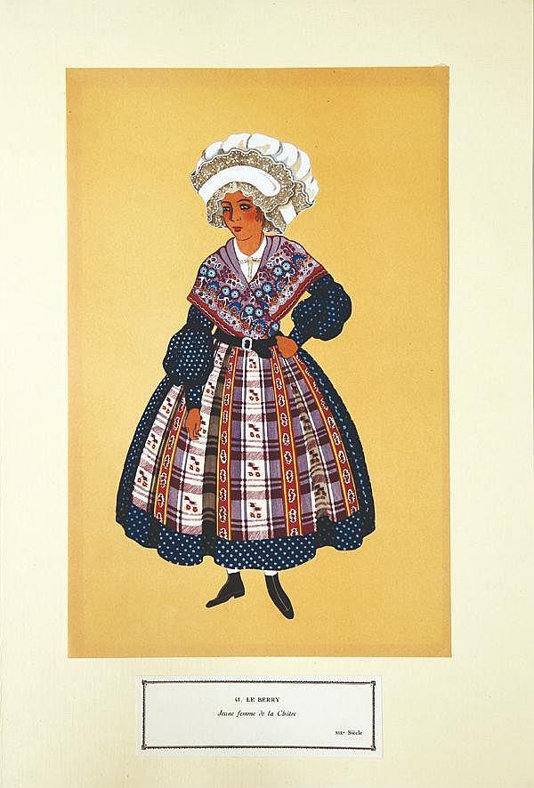 Jeune Femme de la Châtre - Le Berry     vers 1900