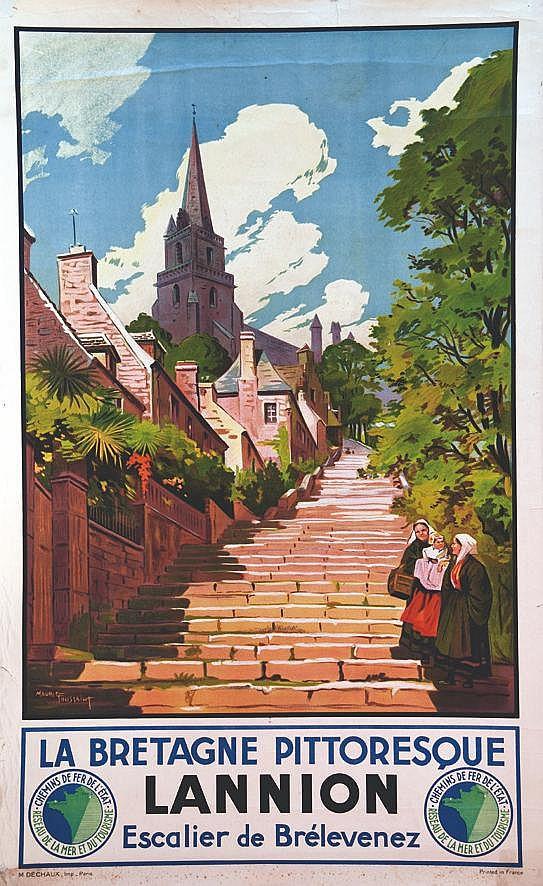 TOUSSAINT MAURICE Lannion - Escalier de Bréleves Britagne Pittoresque vers 1930