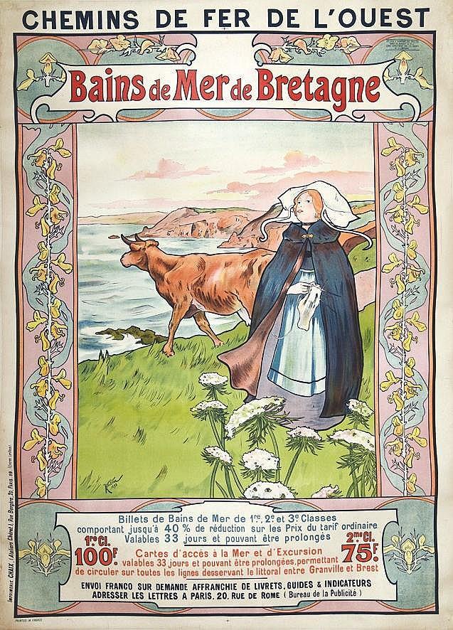 WILDER ANDRE  Bains de Mer de Bretagne     1898