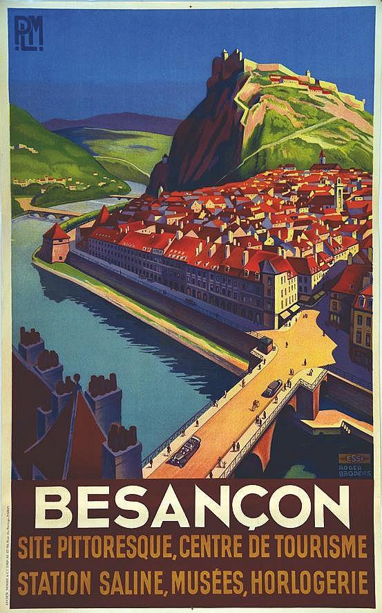 BRODERS ROGER Besançon - Site Pittoresque, Centre De Tourisme Station Saline, Musées, Horlogerie vers 1930