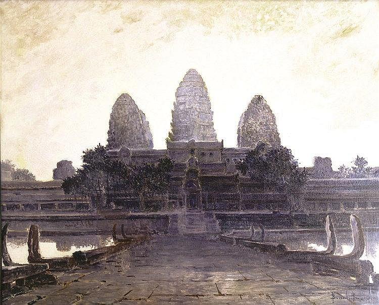BASSOULS RENE  Angkor Huile sur Toile Signée R. Bassouls et datée 1931     1931