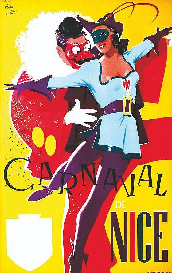 JEAN LUC d'après  Carnaval de Nice     1955
