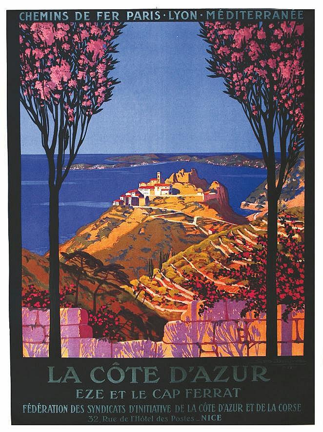 GEO DORIVAL  Eze et Le Cap Ferrat PLM     1919
