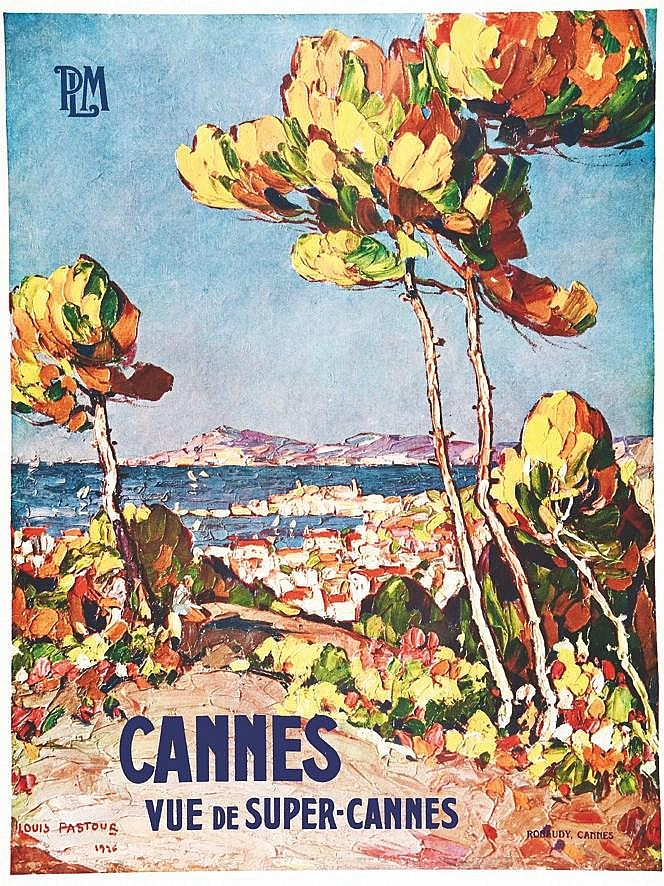 PASTOUR LOUIS Cannes Vue de super Cannes PLM Rare vers 1900