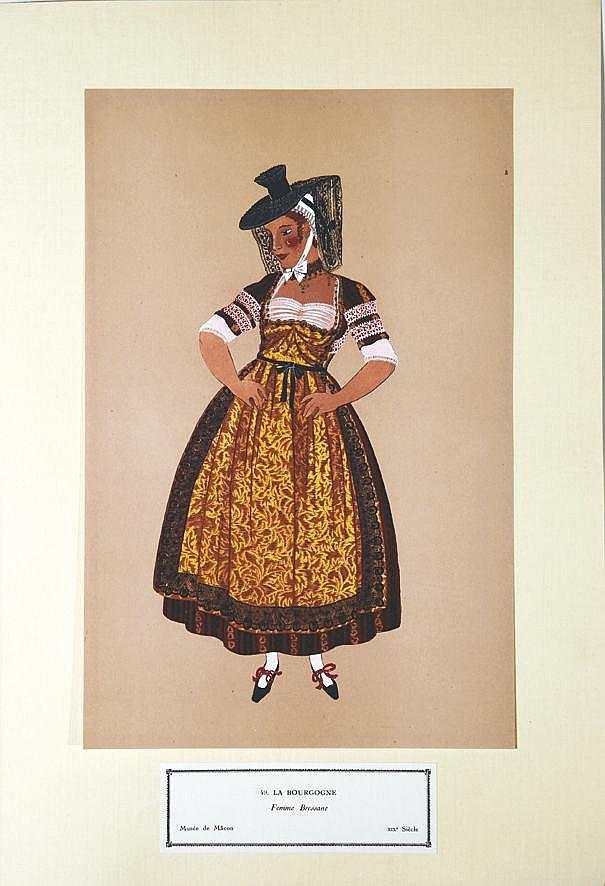 Femme Bressane - La Bourgogne     vers 1900