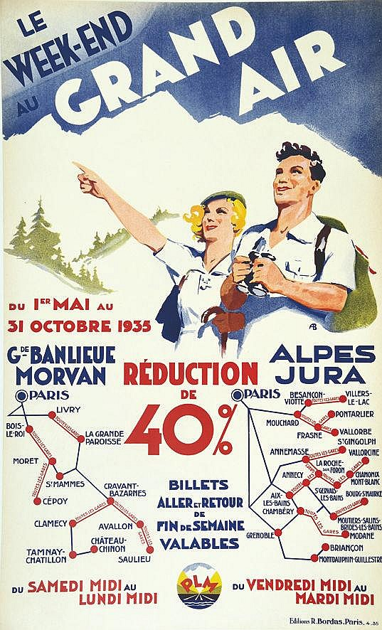 A.B. Le Week-End au Grand Air - Morvan - Alpes Jura 1935 1935