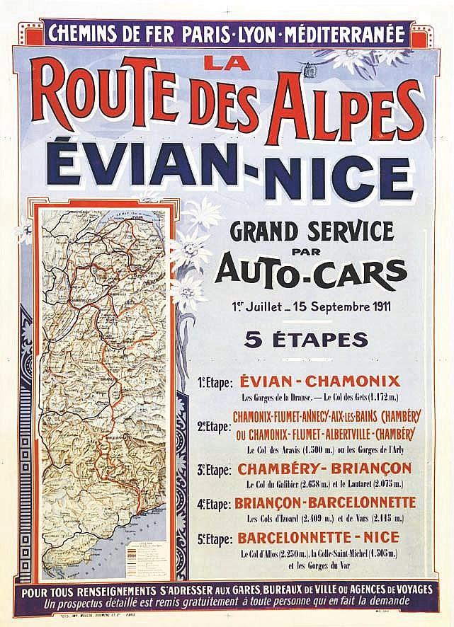 Evian Nice Route des Alpes     1911