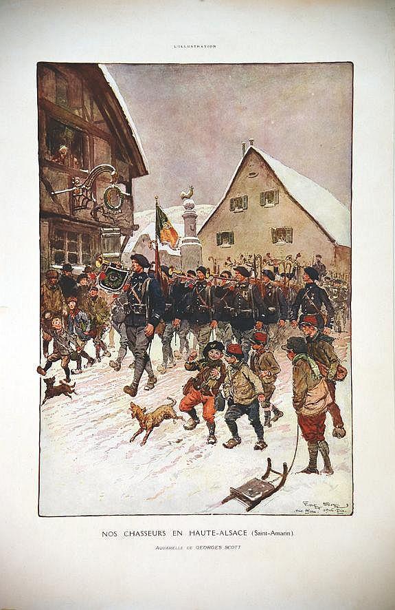SCOTT GEORGES  Saint Amarin - Nos Chasseurs en Haute Alsace     1915