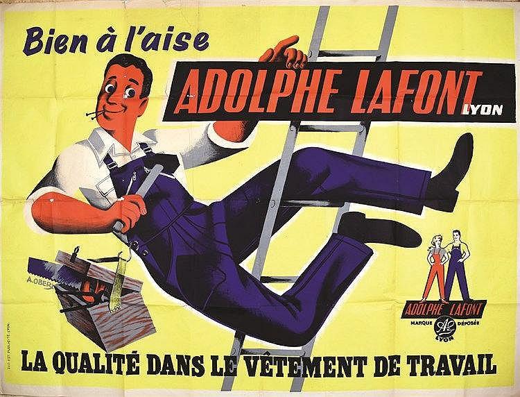 OBER A. Adolphe Lafont Lyon vers 1950 Lyon (Rhône)