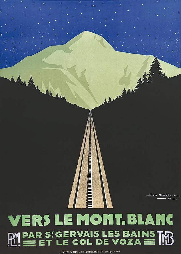 DORIVAL GEO Vers le Mont - Blanc 1928