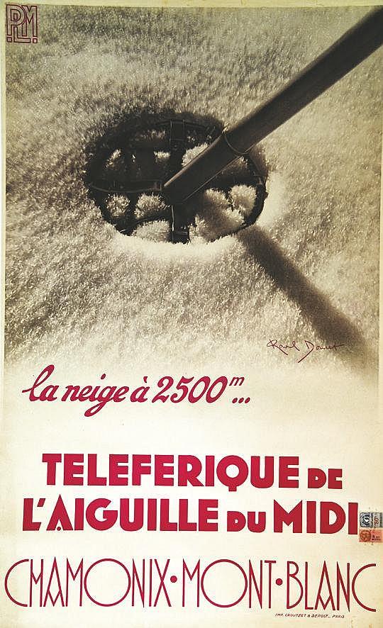 DOUCET RAOUL Chamonix La Neige à 2500 m vers 1930