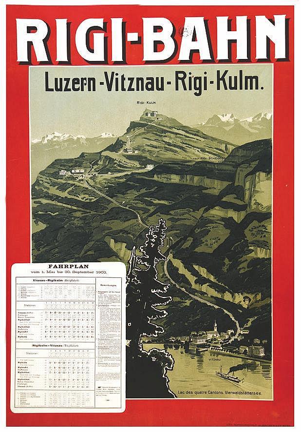 Rigi Bahn - Lac des quatres Cantons 1903