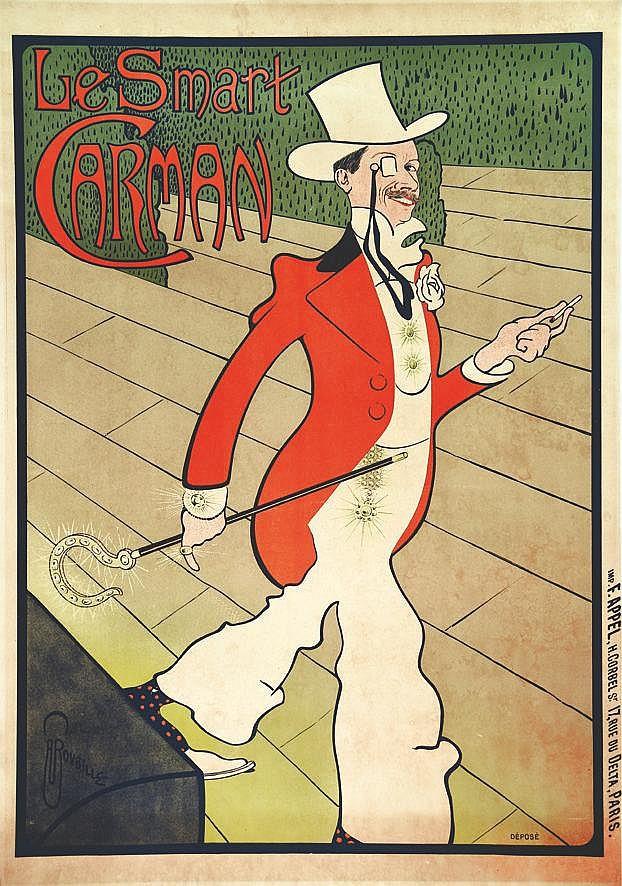 ROUBILLE  AUGUSTE JEAN B.  Le Smart Carman     vers 1898