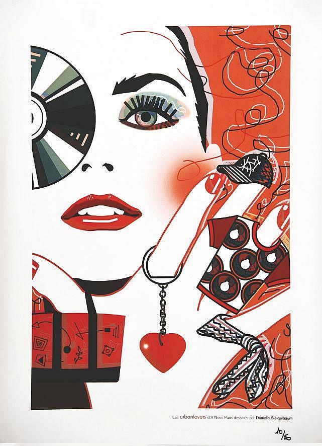 SIEGELBAUM DANIELLE Les Urban Lovers numéroté 10/50 exemplaires vers 1980