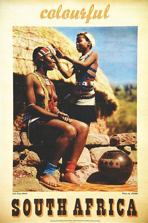 PHOTO : SATOUR  Zulu Girls Natal - South Africa     vers 1950